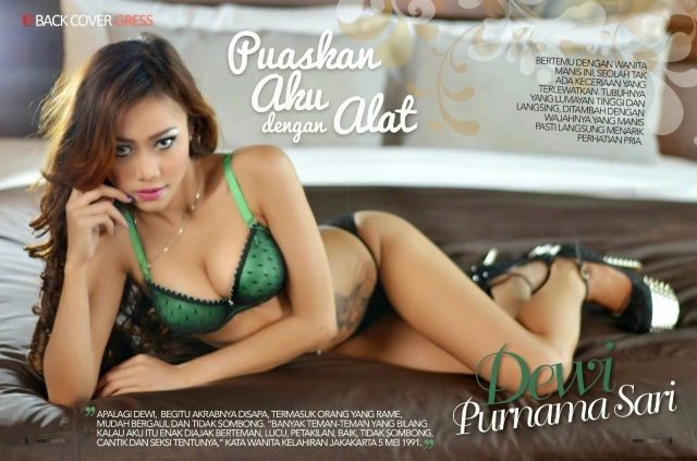 Foto Hot Dewi Purnama Sari di Majalah Gress
